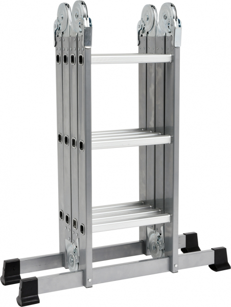 Scara multifunctionala VOREL, otel/aluminiu, 3.4m, 4X3 trepte 0
