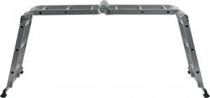 Scara multifunctionala VOREL, otel/aluminiu, 3.4m, 4X3 trepte [2]