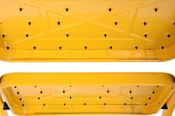 Scara VOREL, otel/aluminiu, 125cm, 3 trepte 6