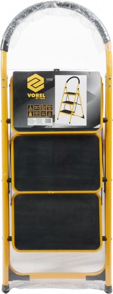 Scara VOREL, otel/aluminiu, 125cm, 3 trepte 7