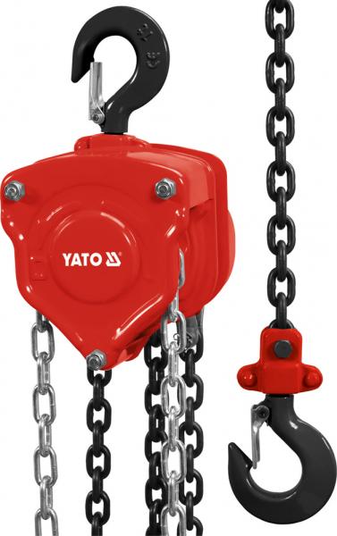 Scripete cu Lant YATO, Profesional, 3m, 500kg 0