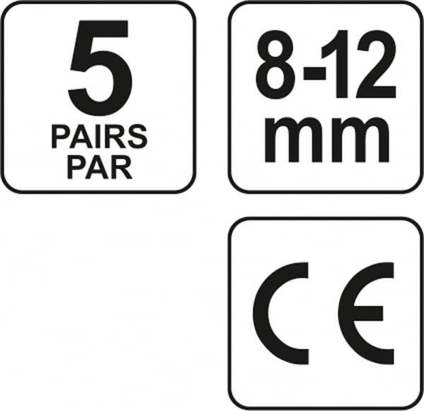 Set antifoane YATO, tip dop, 8-12mm, silicon, 5 perechi 3