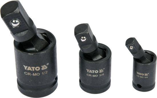 Set Articulatii Cardanice YATO, de Impact, cu Bila, CR-Mo, 1/4 - 3/8 - 1/2 inch, 3buc [0]