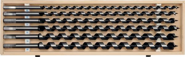 Set burghie elicoidale YATO, pentru lemn, 10-20mm, 460mm, 6buc 0