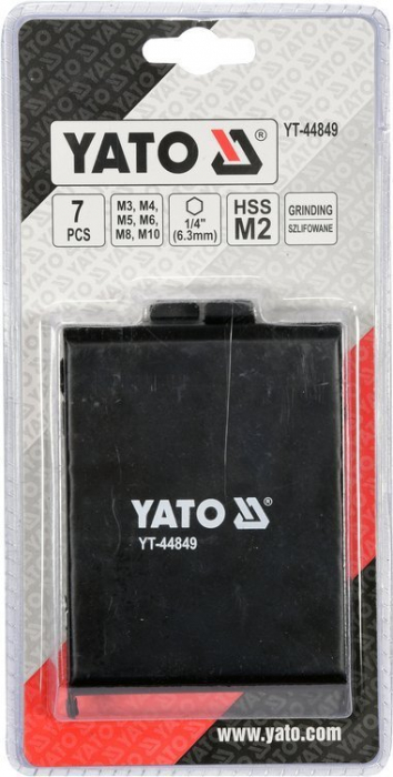 Set Burghie Tarod YATO, HSS, 3 - 10 mm, 7 buc [4]