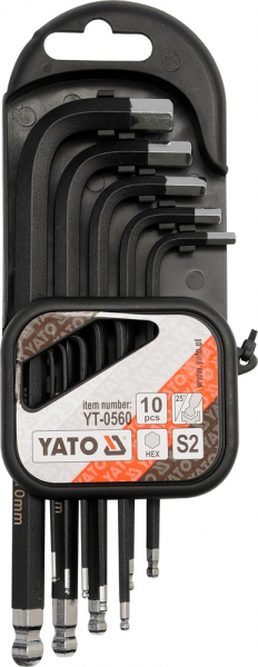 Set Chei Imbus YATO, S2, 1.27 - 10 mm, 10 buc 0