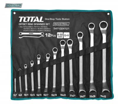 Set Chei Inelare TOTAL, Cotite, CR-V, 6 - 32mm, 12 buc, INDUSTRIAL 0