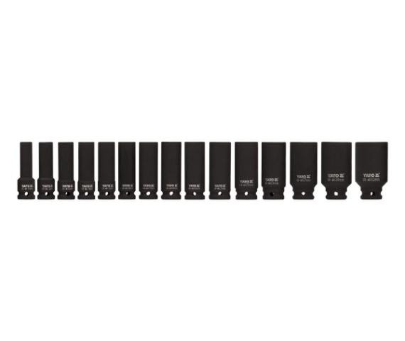 Set Chei Tubulare Adanci YATO, De Impact, 1/2 Inch, 10 - 32mm, 15buc 0