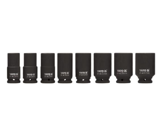 Set Chei Tubulare Adanci YATO, De Impact, 3/4 Inch, 22 - 41mm, 8buc 0