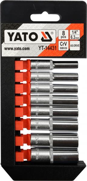 Set Chei Tubulare YATO, CR-V, 1/4 inch, 8 buc 1