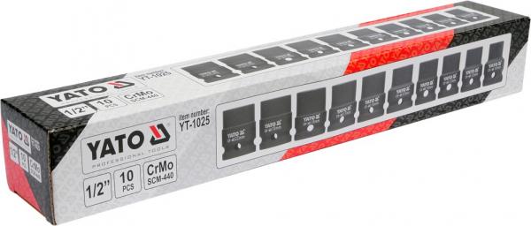 Set Chei Tubulare YATO, de Impact, 10 - 22mm, 1/2 Inch, 10buc [2]