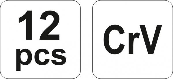 Set Dalti Impact YATO, CR-V, 12 buc 3
