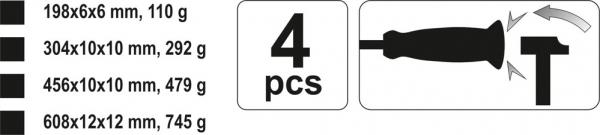 Set Leviere YATO, 4 buc [2]