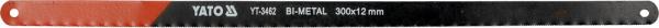 Set Panze Fierastrau YATO, Pentru Metal, 300 X 12 X 0.6mm, BI-METAL, 24TPI, 2buc 0