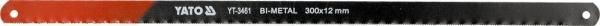 Set Panze Fierastrau YATO, Pentru Metal, 300 X 12 X 0.6mm, BI-METAL, 2buc 0