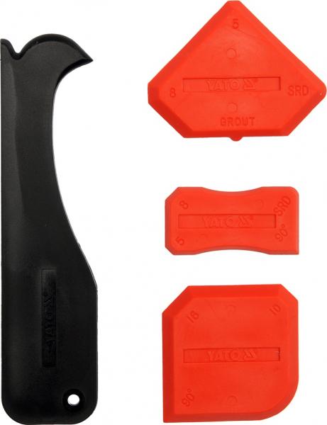 Set spatule silicon YATO, TPR, 4buc, rosu-negru [0]