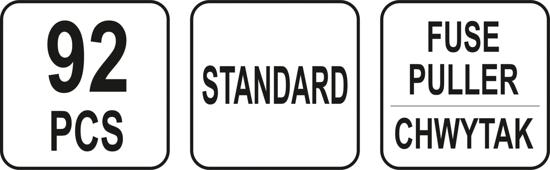 Set YATO, Sigurante Auto, 92 buc, STANDARD 2