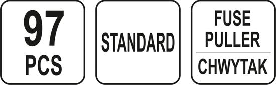 Set YATO, Sigurante Auto, 97 buc, STANDARD [2]