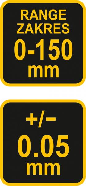 Subler Inox VOREL, 150mm, Precizie 0.05mm [2]