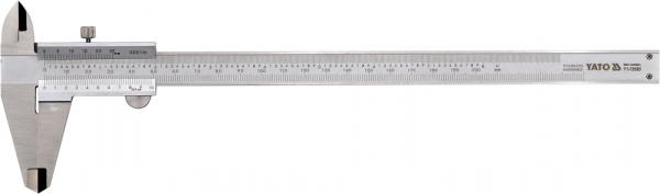 Subler Inox YATO, 200mm, Precizie 0.02mm 0