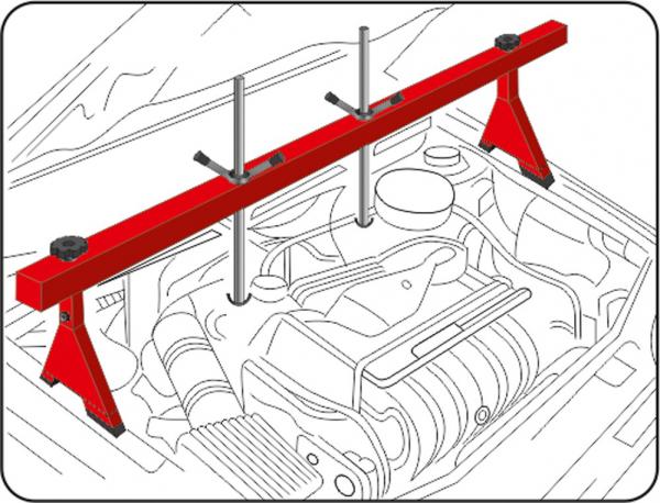 Suport Ridicare Motor YATO, Maxim 500kg [1]