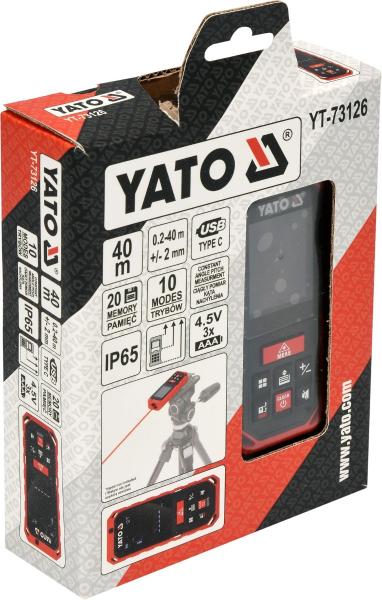 Telemetru cu Laser YATO, 0.2 - 40m 3