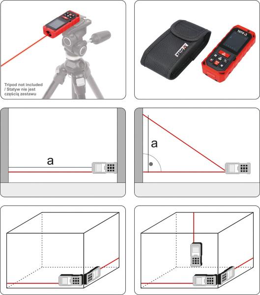 Telemetru cu Laser YATO, 0.2 - 40m 4