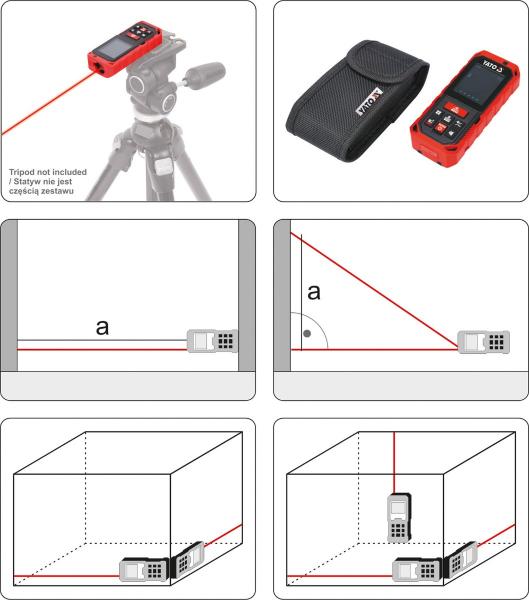 Telemetru cu Laser YATO, 0.2 - 60m 4