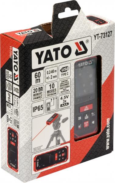Telemetru cu Laser YATO, 0.2 - 60m 3