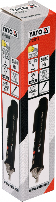 Tester Digital YATO, Pentru Tensiune, cu Lanterna, 12 - 1000V, 50/60 Hz [3]