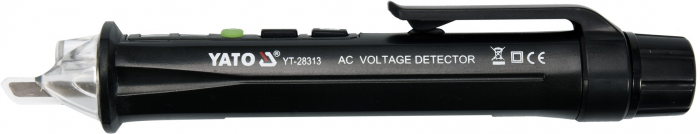 Tester Digital YATO, Pentru Tensiune, cu Lanterna, 12 - 1000V, 50/60 Hz [2]