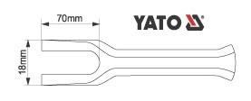 Tija Pentru Indepartat Articulatii Sferice YATO, 200mm 1
