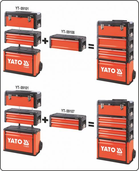Troler Pentru Scule YATO, Capacitate 45kg, 520 X 320 X 720mm 1