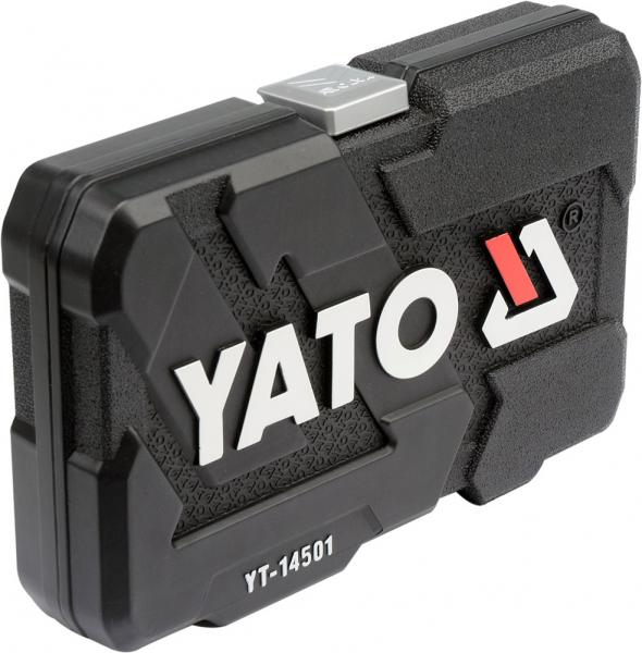Trusa Chei Tubulare si Biti YATO, CR-V, 1/4 inch, 56 buc 3