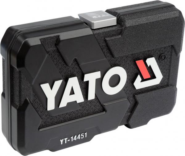 Trusa Chei Tubulare Yato, Antrenor cu Clichet, CR-V, 1/4 inch, 23 buc 3
