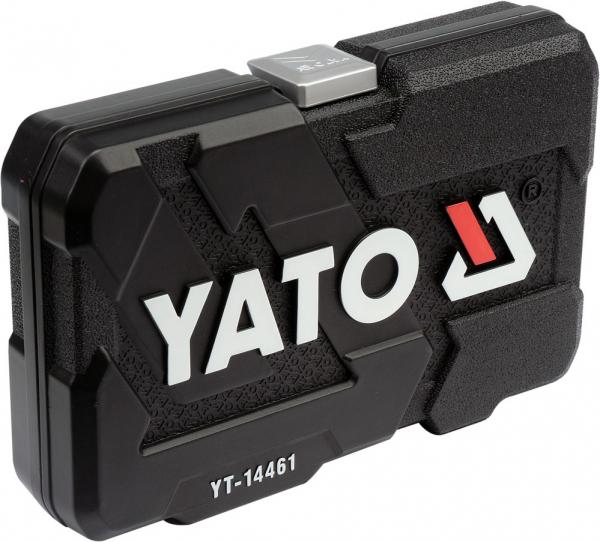 Trusa Chei Tubulare YATO, Antrenor cu Clichet, CR-V, 1/4 inch, 25 buc 3