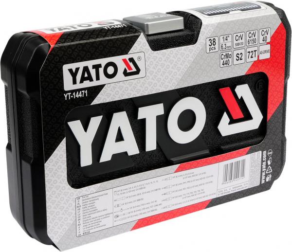 Trusa Chei Tubulare YATO, Antrenor cu Clichet, CR-V, 1/4 inch, 38 buc 2