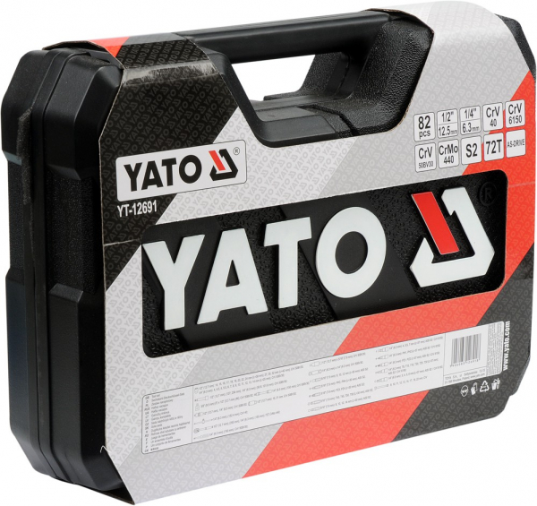 Trusa Chei Tubulare YATO, CR-V, 82 buc [1]