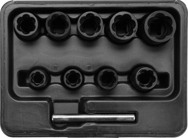 Trusa Tubulare YATO, Pentru Piulite Deteriorate, 3/8 inch, 10 buc 0