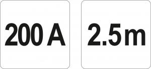 Cabluri Incarcare Baterie Auto YATO, 200A, 2.5m [2]