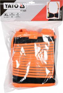 Centura elastica YATO, cu bretele, negru/portocaliu, marime XL2