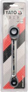 Cheie Inelara Dubla YATO, cu Clichet, CR-V, 72T, 10 X 13 X 17 X 19mm1