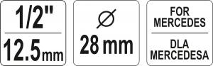 Cheie Tubulara YATO, Anticamera Pompa Injectie, MERCEDES, 1/2, 28mm [2]