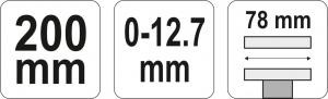 Cleste Autoblocant YATO, Pentru Sudura, Plat, 200mm3