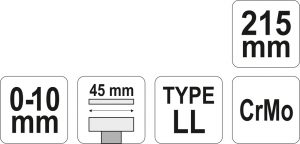 Cleste Autoblocant YATO, Pentru Tinichigerie, Tip LL, 0 - 10mm, 215mm3