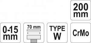 Cleste Autoblocant YATO, Pentru Tinichigerie, Tip W, 0 - 15mm, 200mm [3]