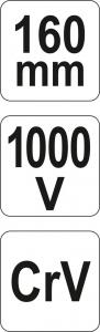 Cleste Combinat YATO, Varf Ascutit, VDE, 160mm, 1000V4