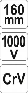 Cleste Combinat YATO, VDE, 160mm, 1000V4