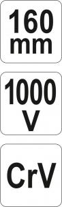 Cleste Decablator YATO, VDE, 1000V, 160mm5