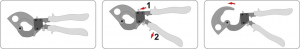Cleste Pentru Cabluri YATO, Cu-AL, 300mm/240mm3